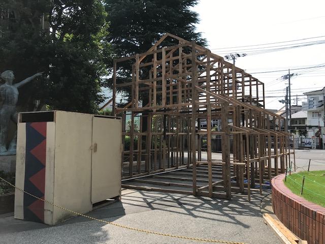 門隊小屋を設置しました